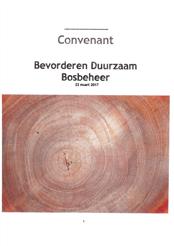 Convenant Bevorderen Duurzaam Bosbeheer