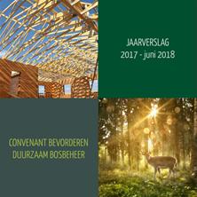 Jaarrapportage Convenant Bevorderen Duurzaam Bosbeheer 2017-juni 2018