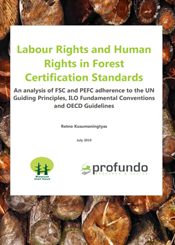 Report Forest certification and human and labour rights